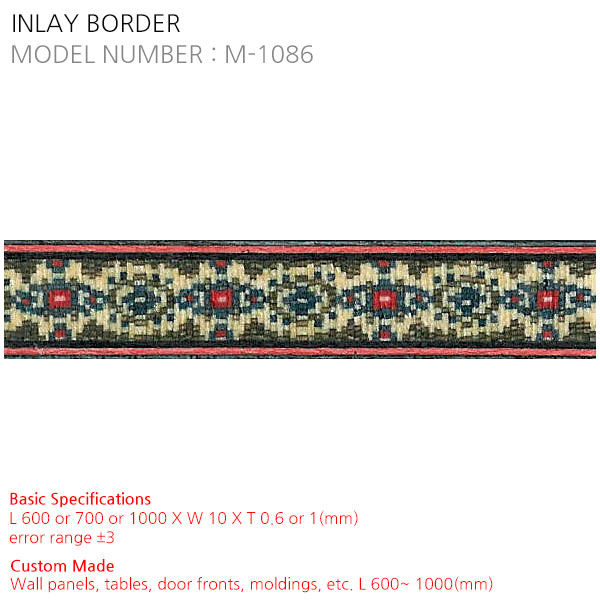 INLAY BORDER M-1086