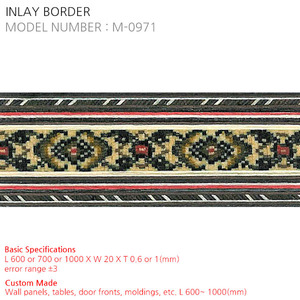 INLAY BORDER M-0971