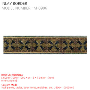 INLAY BORDER M-0986
