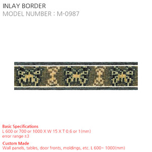 INLAY BORDER M-0987