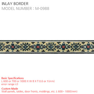 INLAY BORDER M-0988