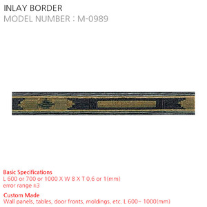 INLAY BORDER M-0989